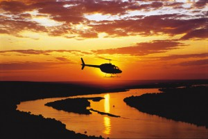 Botswana Honeymoon Helikopter Rundflug